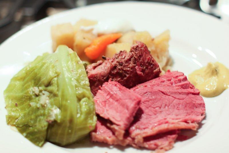 The luck of the Irish brings us Smoked Corned Beef and Cabbage...a tasty treat for your holiday fun...enjoy with your beer of choice.